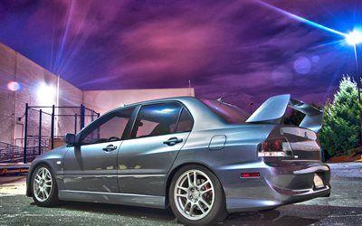 Download wallpapers tuning, Mitsubishi Lancer Evolution X, supercars, parking, Mitsubishi Lancer, japanese cars, low rider, Mitsubishi