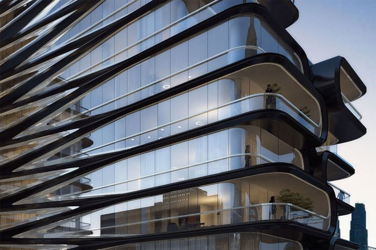 zaha hadid unveils luxury condo along new york's high line - designboom | architecture & design magazine