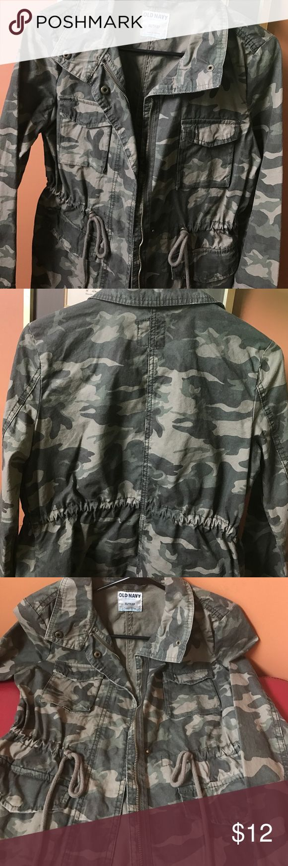 Great Camo Jacket! Old Navy Camo Jacket with waist tie. Old Navy Jackets & Coats Jean Jackets