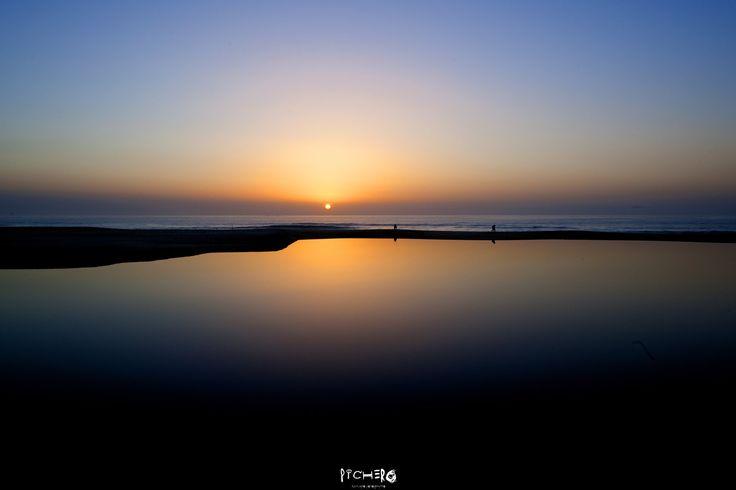 Solpor en playa Ancoradoiro-Ría de Noia y Muros