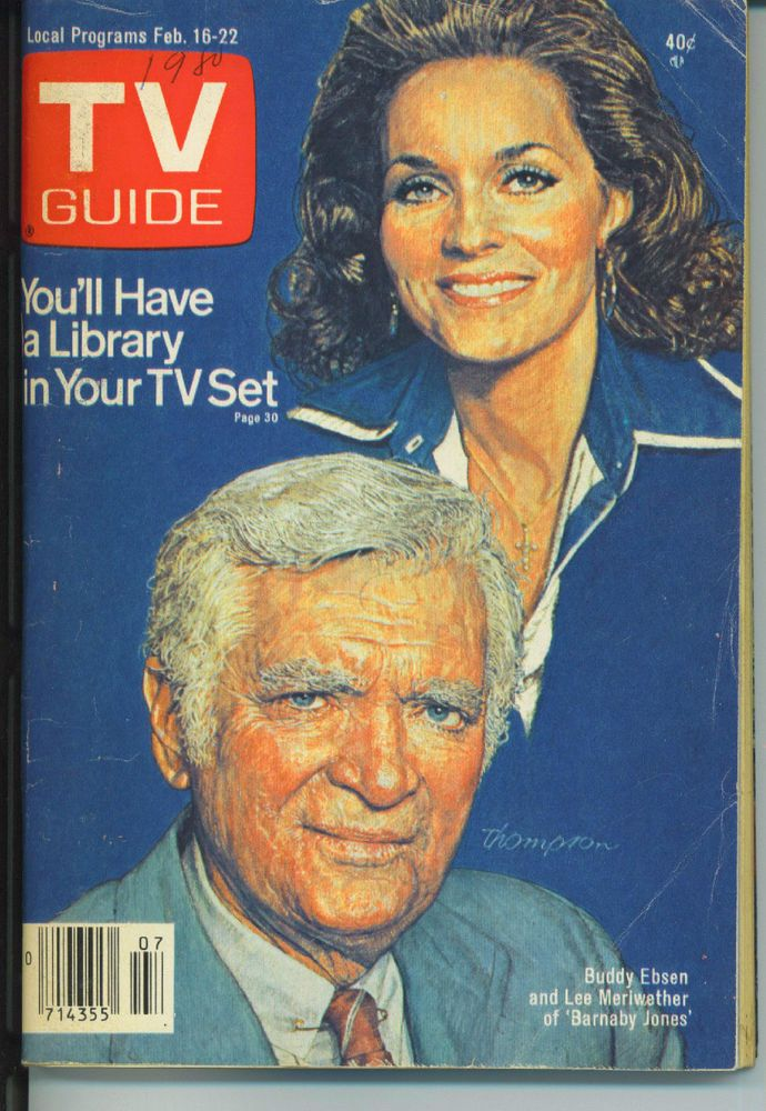 NEW YORK CITY TV GUIDE 2-16-1980 LEE MERIWETHER~NORMAN FELL~DATA TV~TV REPORTERS