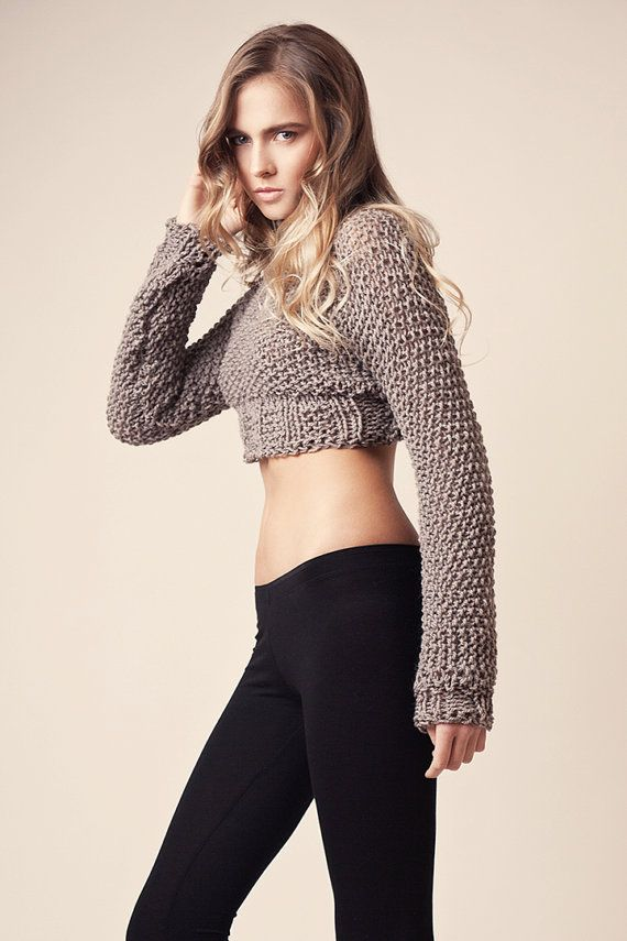 Hand knitted, soft and bulky sweaters