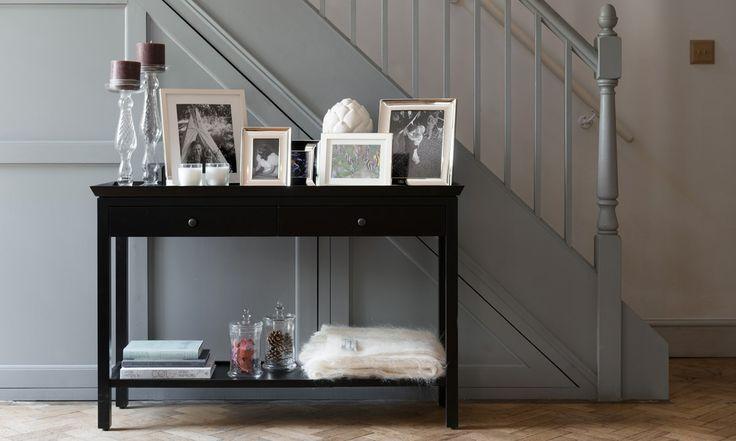 Aldwych black console table, hallway furniture