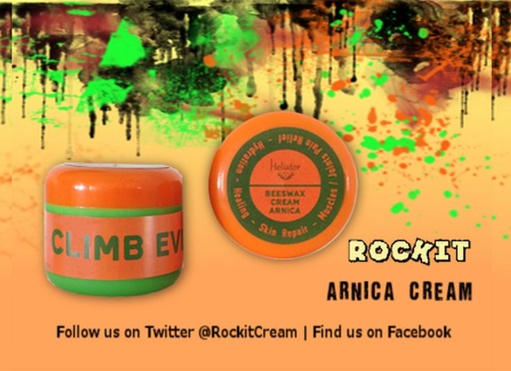 Psyched for climbing? We are... That's why we came up with RocKit Arnica Cream. Your natural solution to muscles/joints pain relief & skin healing!