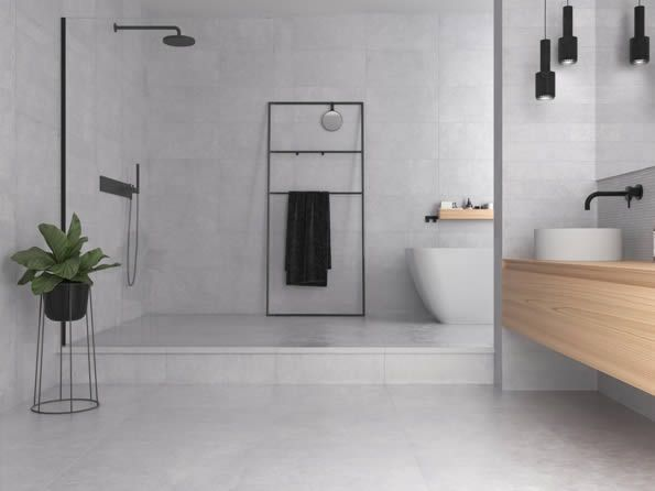 Fantastic No Cost Contemporary Bathroom Concrete Ideas Like The Appearance Of A Modern Day Lavator In 2020 Concrete Bathroom Bathroom Concrete Floor Concrete Look Tile