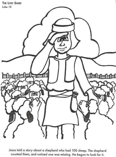 lost sheep parable coloring pages - photo#24