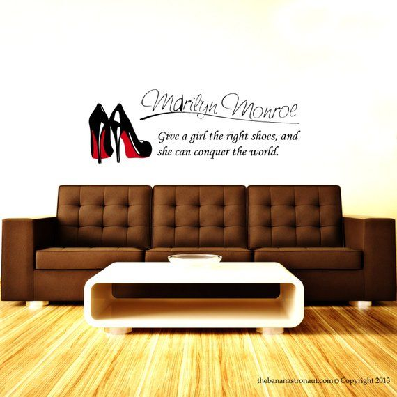 Marilyn Monroe Wall Decal Stickers Decor Quote Shoe Easy