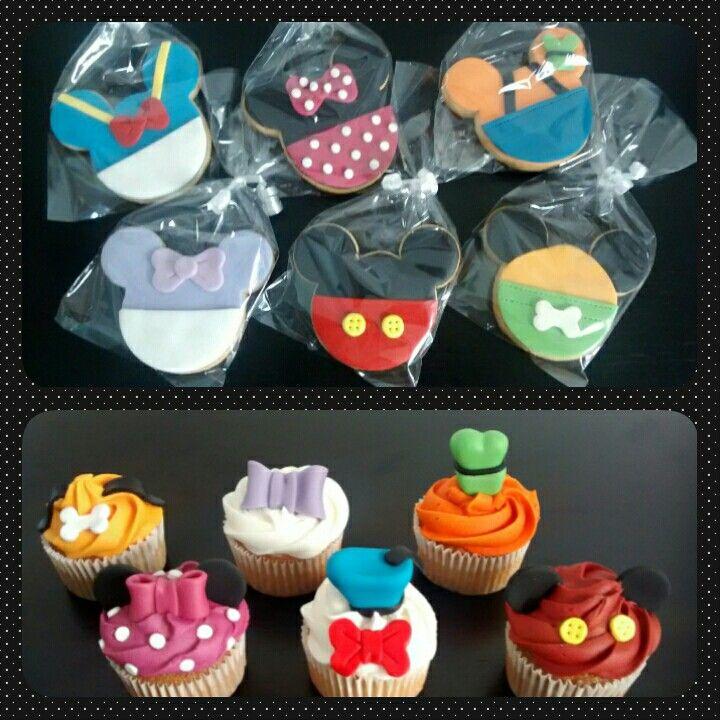 combo mickey y sus amigos galletas cookies cupcakes