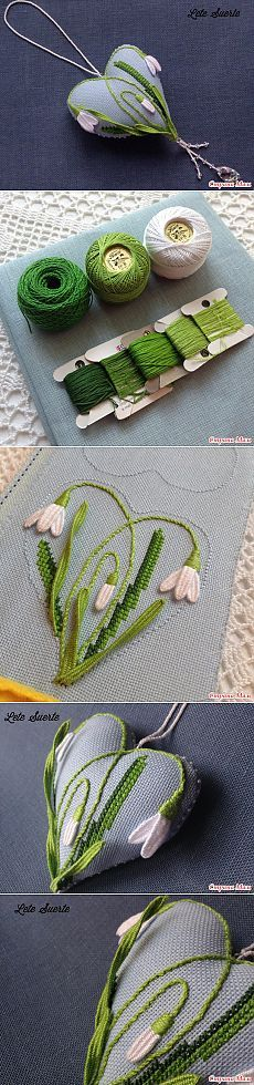 Heart with snowdrops - Biskornyu and other & quot; krivulki & quot; - Home Moms