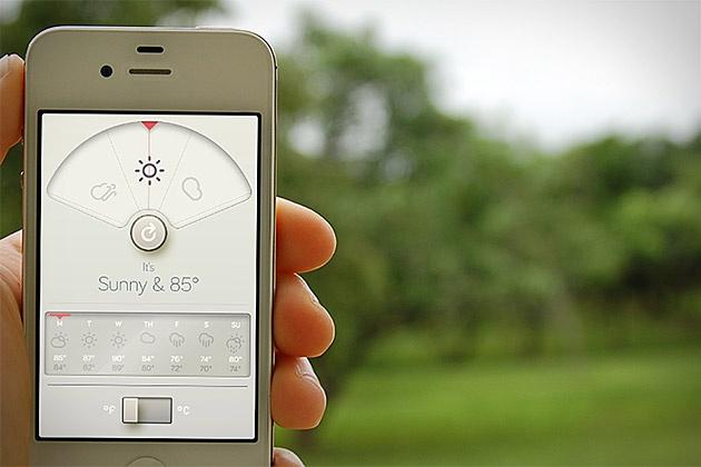 WTHR...UI Inspired by Dieter Rams' 10 principles of good design
