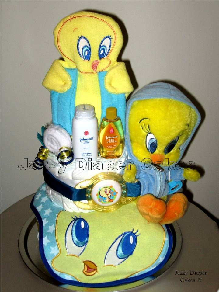 Tweety Tweety Bird Cherylle Baby Baby Girls Baby Shower Cake Toppers