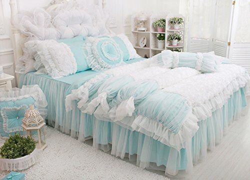 Amazon|ジョウジボウ 「姫様の夢」 番手40 綿100%&紗 ベッドカバセット(ベッドカバーベッドスカート枕カバー) (セミダブル 三点セット, ピンク)|寝具カバーセット オンライン通販