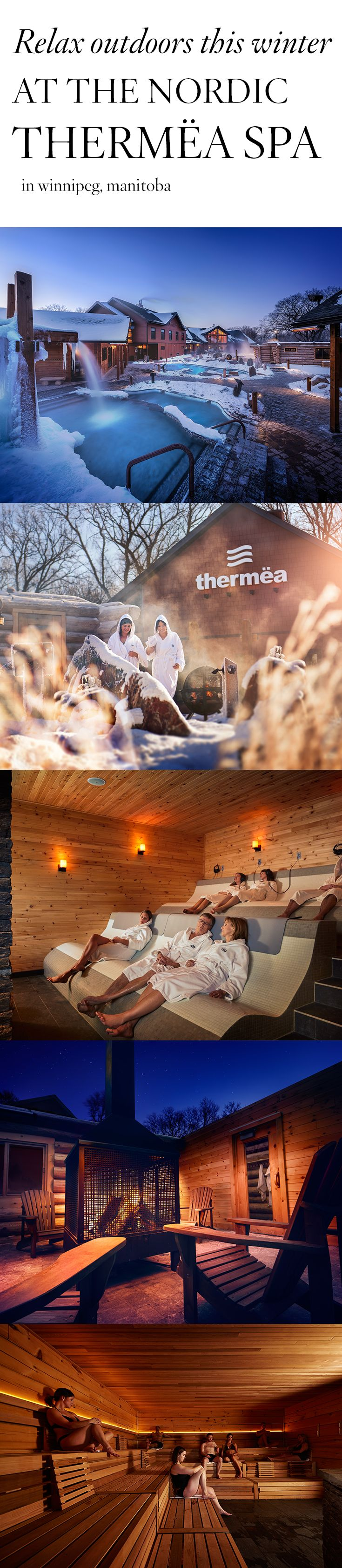 Experience winter in a whole new way: by bathing outside in cold water. Thermëa by Nordik Spa-Nature is Manitoba's newest spa experience, where the cold is key.