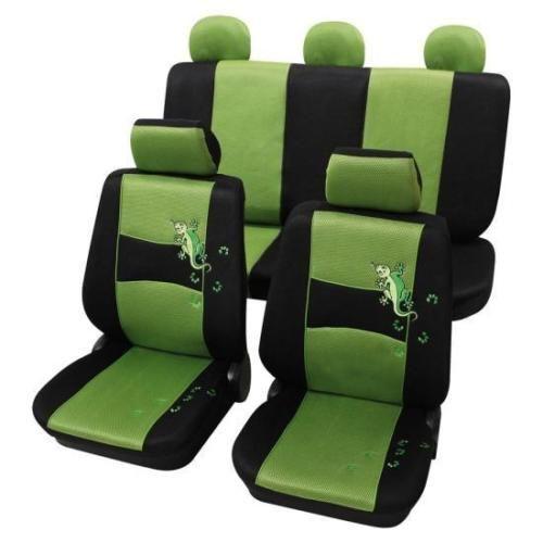 Elegante-Verde-Nero-Design-Coprisedili-per-auto-FIAT-PANDA-DAL-2003-IN-POI