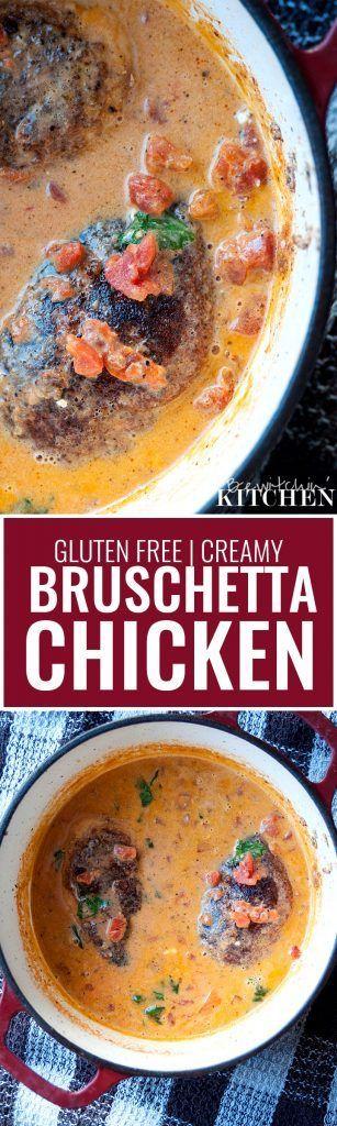 Creamy Bruschetta Chicken (Gluten Free)