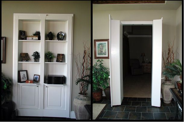 Superb Bookcase Closet Doors. Would Solve The Living Room Closet Issue   New House    Pinterest   Bookcase Door Doors And Bookcase Closet
