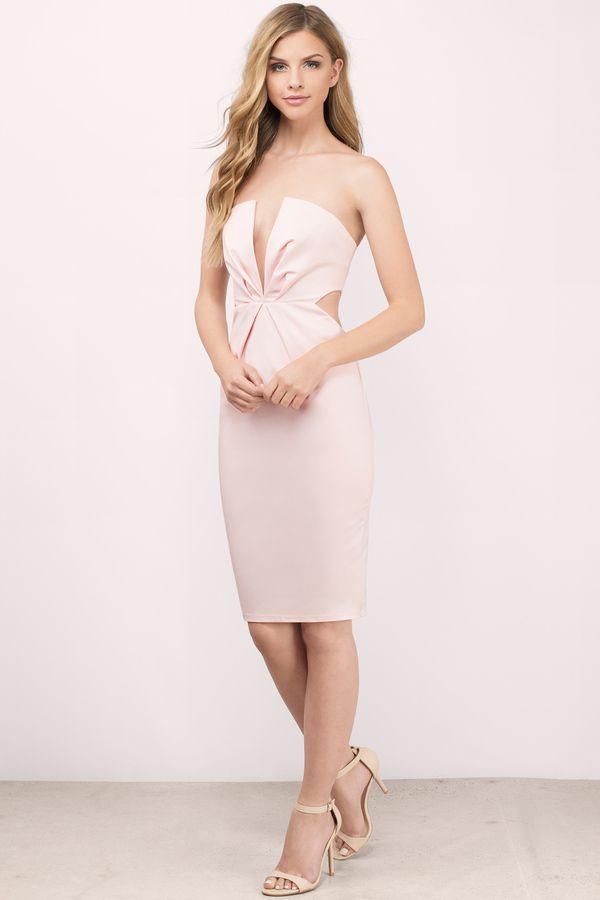 Buy The Into Night Blush Bodycon Dress On Tobi This