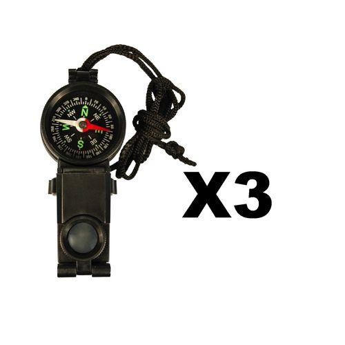 Ultimate Survival Technologies Explorer�s Tool Binoculars Compass Tool (3-Pack)