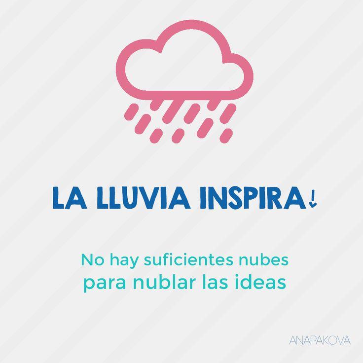 A disfrutar de la lluvia! #lluvia #nubes #ideas