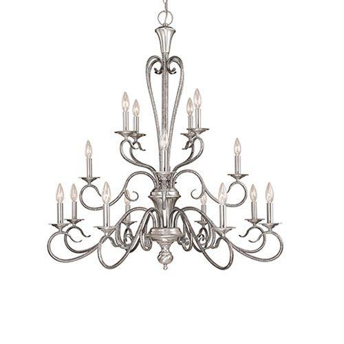 Millennium Lighting Devonshire Satin Nickel/Silvermist Sixteen Light Chandelier On SALE