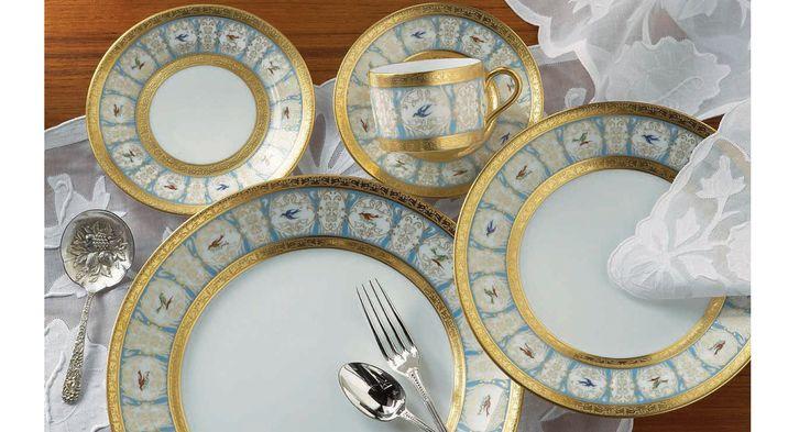 Haviland u0026 Parlon luxury porcelain tableware with bird design | Harlequin London #luxury #porcelain & 101 best Exquisite Porcelain Tableware images on Pinterest | Dinner ...