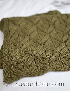 Like marquise cut diamonds, the lace pattern featured in this stole has elegant elliptical shapes that are multi-dimensional and beautiful from many angles.