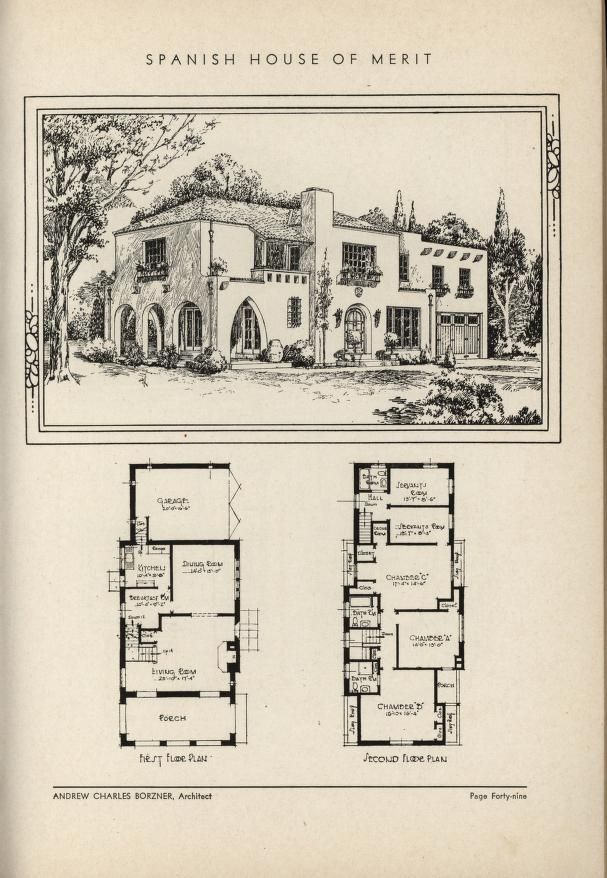 The book of beautiful homes  H o m e T o B u i l d in 2019  House plans Vintage house plans