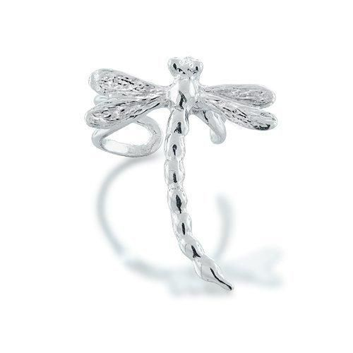 Bling Jewelry Ear Cuff Right Ear Dragonfly 925 Sterling Silver