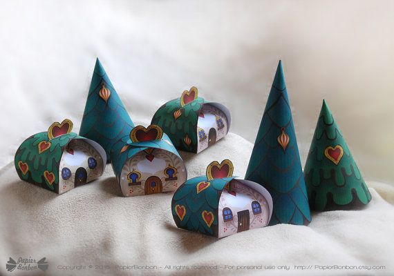 Christmas Favor boxes Printable  Party favors