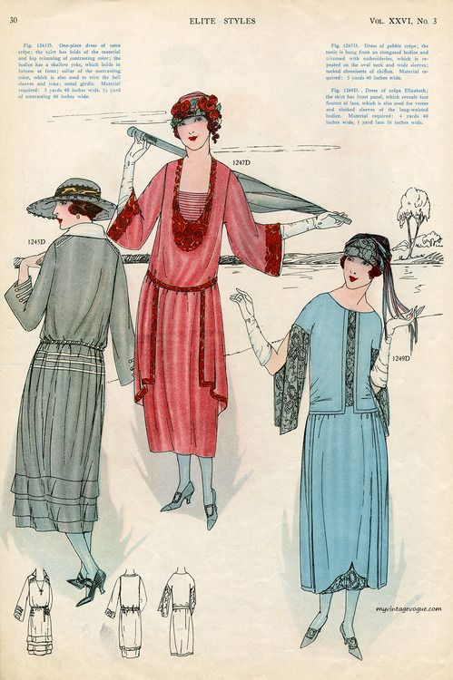 Elite Styles Magazine - March 1922. #vintage #1920s #fashion
