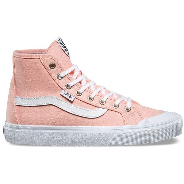Vans Womens Black Ball Hi SF (£50) ❤ liked on Polyvore featuring shoes, sneakers, pink, leather high tops, vans shoes, vans high tops, leather high top sneakers and leather sneakers