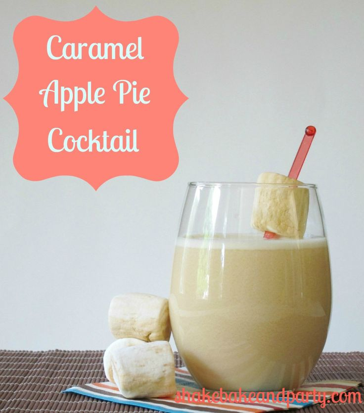 Caramel Apple Pie Cocktail: Apple cider, Rumchata, and Caramel Apple Vodka. I want this in my mouth RIGHT NOW.