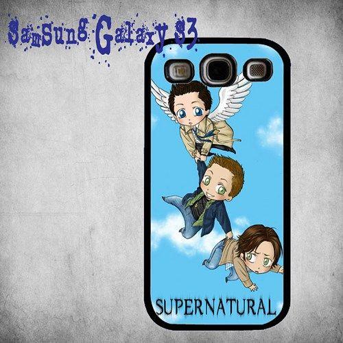 Supernatural Art Print On Hard Plastic Samsung Galaxy S3, Black Case