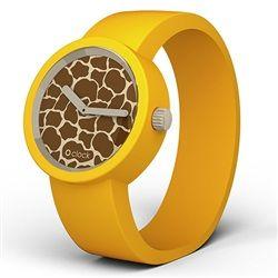 O clock watch - Safari - Giraffe face with Yellow strap