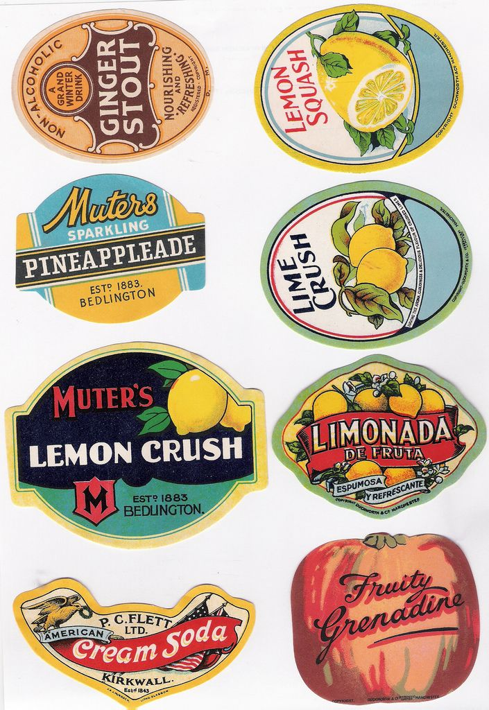 vintage labels •.......................  ................................♥...Nims...♥