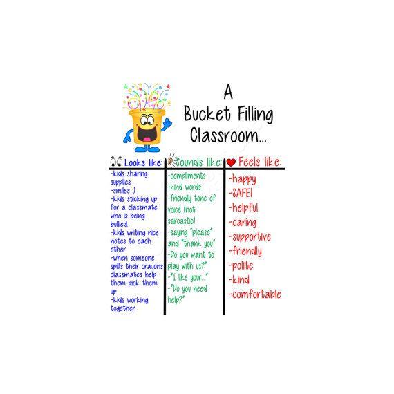 A Bucket Filling Classroom