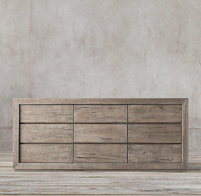 Reclaimed Russian Oak 9-drawer Dresser