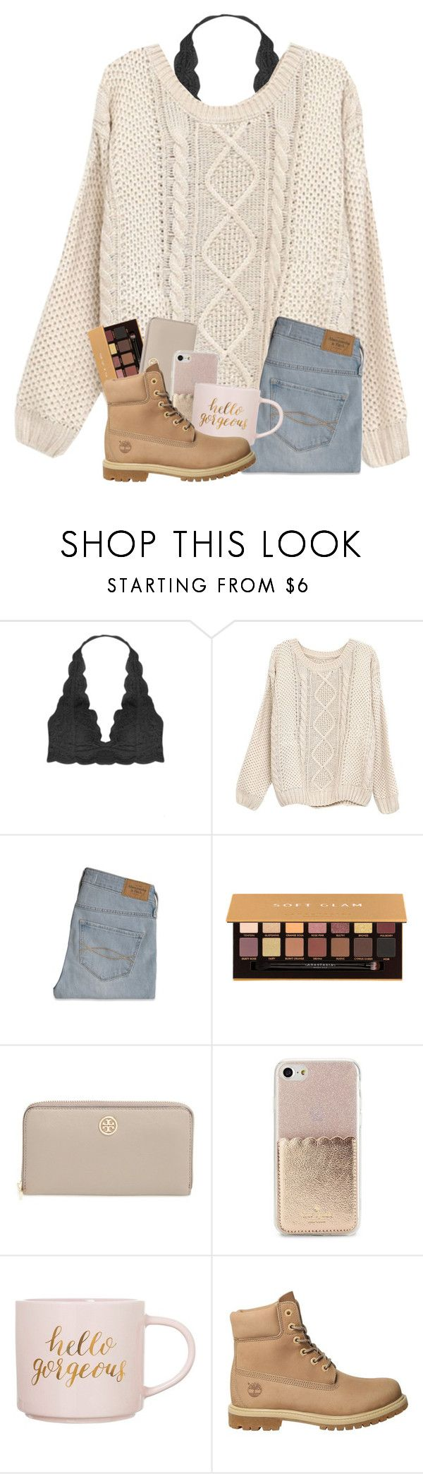 """Can I raid anyone's items??"" by magsvolleyball2 ❤ liked on Polyvore featuring Humble Chic, Abercrombie & Fitch, Anastasia Beverly Hills, Tory Burch, Kate Spade, Clay Art and Timberland"
