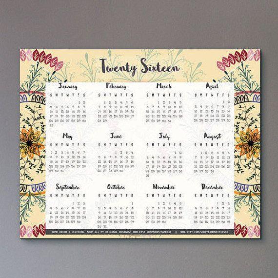 8 best 2017 wall calendar images on Pinterest | Wall calendars ...