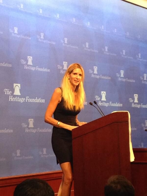 Ann Coulter speaking at Eagle Forum Collegians Summit 2014.