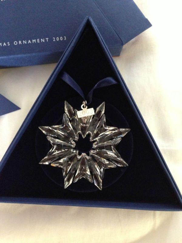 Delightful Swarovski 2000 Christmas Ornament Part - 4: 2003 Swarovski Crystal Christmas Ornament!