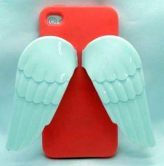Telefonunuzu melekler korusun... iphone 4 ve 4s içindir Renk: Nar çiçeği