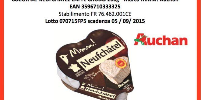 Auchan ritira formaggio Coeur de Neufchatel a latte crudo per presenza di Listeria Monocytogens in uno specifico lotto