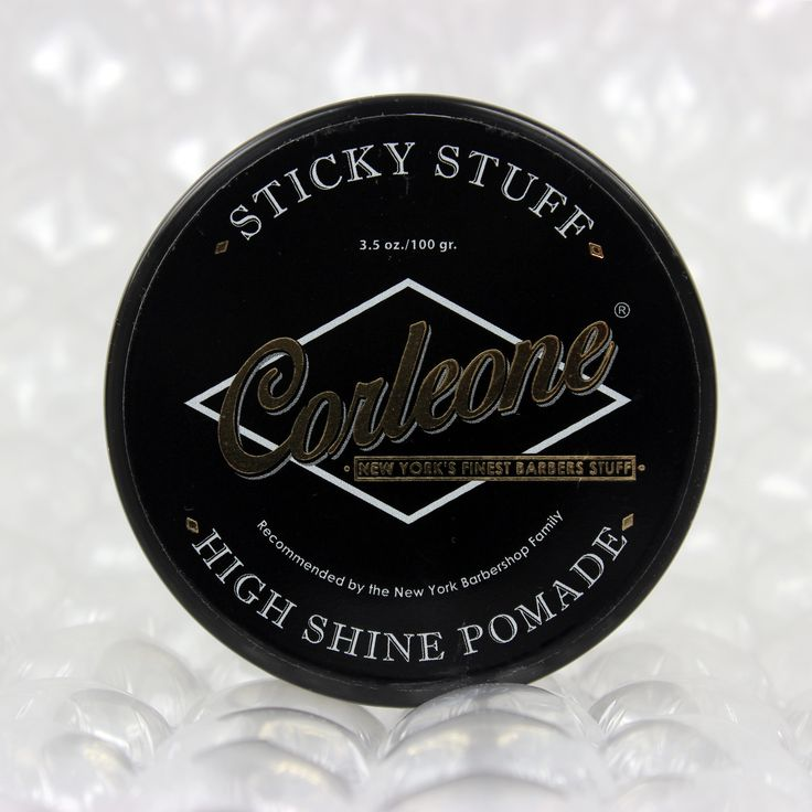 A product from world renowned New York Barbershop in The Netherlands. This barbershop was established in Rotterdam in 1884 and has been family owned ever since. Suitable for a diverse range of hairstyles, like slick backs or quiff with a polished look. Washes out easily and leaves no residue. #corleone #pomade #highshine #newyork #barbershop #rotterdam #slickback #quiff #mrpomade