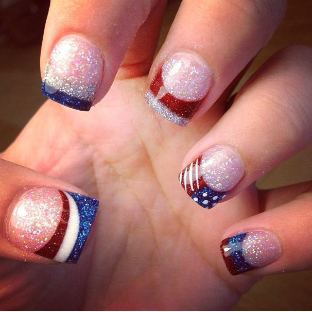 Awesome Red, White & Blue Nail Designs