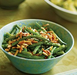 GREEN BEANS WITH TOASTED SLIVERED ALMONDS ♥ http://www.finecooking.com/recipes/green_beans_almonds.aspx