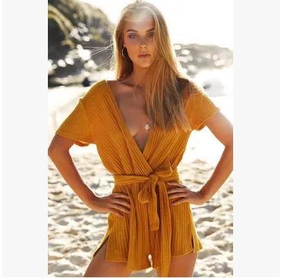 Kalin Women/'s Leopard Print Bodysuit Long Sleeve Bodycon Romper Jumpsuit Tops Clubwear