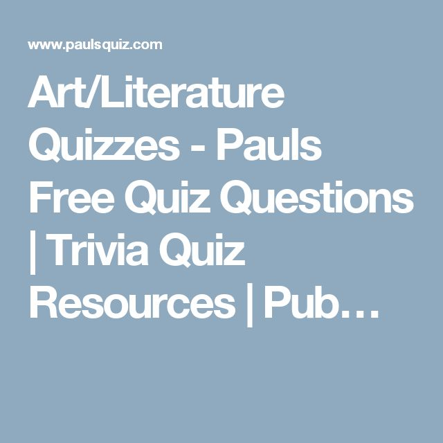literature quiz questions with answers