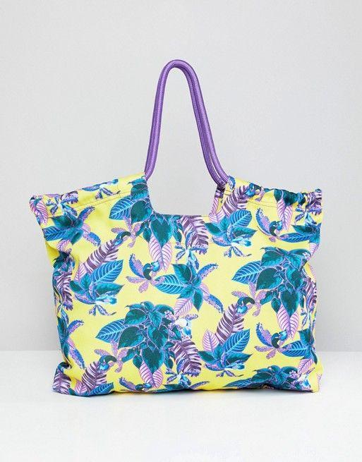 dc15624aace3 Пляжная сумка с тропическим принтом Monki | 1 | Bags, Tropical ...