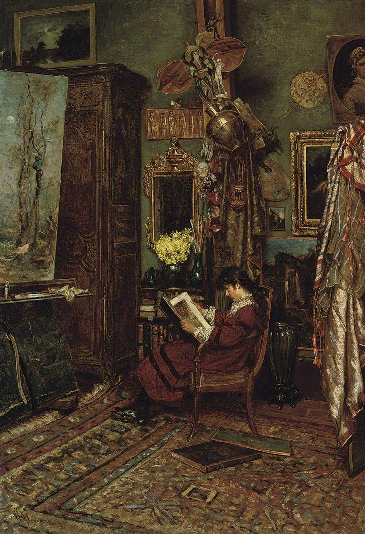 The Artist's Studio.William John Hennessy, R.O.I., P.S., N.A. (Irish, 1840-1917). Oil on canvas.